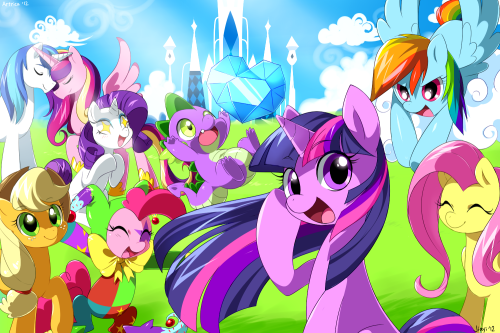 MyLittlePony_Friendship_is_Magic_Wallpapersize_Fanart