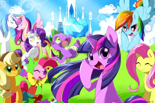 MyLittlePony_Friendship_is_Magic_Wallpapersize_Fanart