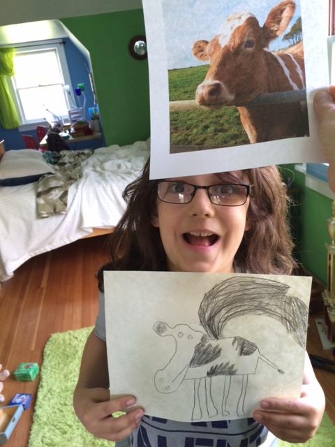 Em Cow Art