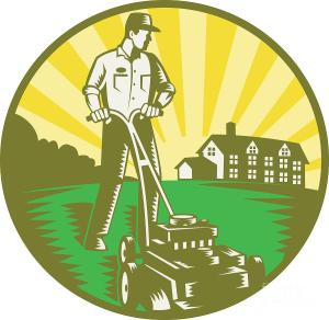 gardener-mowing-lawn-mower-retro-aloysius-patrimonio