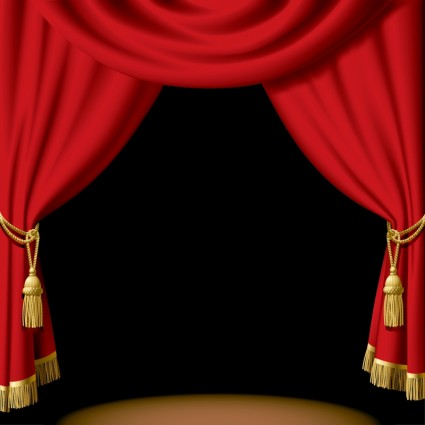 red_stage_curtain_vector_287208